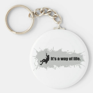 Mountain Climbing is a Way of Life Keychain
