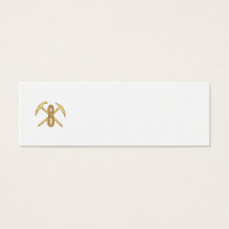 Mountain Climbing Pick Axe Rope Crossed Drawing Mini Business Card