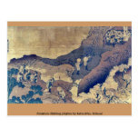 Mountain climbing pilgrims by Katsushika, Hokusai Postcard