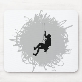 Mountain Climbing Scribble Style Mouse Pad