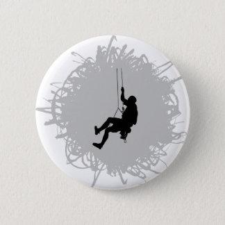 Mountain Climbing Scribble Style Pinback Button
