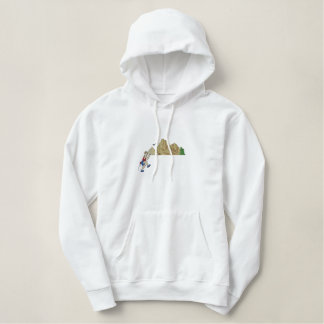 Mountain Climbing Topper Embroidered Hoodie