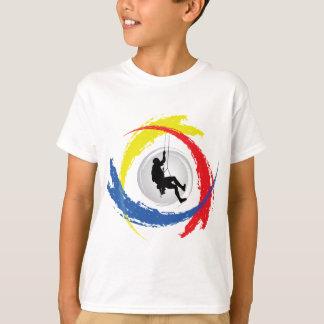Mountain Climbing Tricolor Emblem T-Shirt