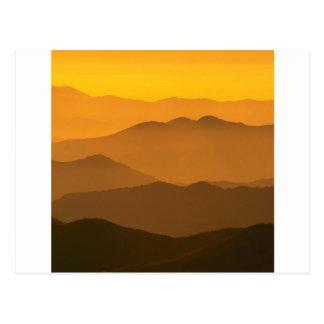 Mountain Clingmans Dome Carolina Postcard
