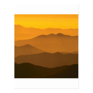 Mountain Clingmans Dome Carolina Post Card