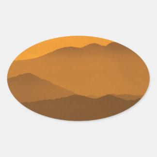 Mountain Clingmans Dome Carolina Stickers