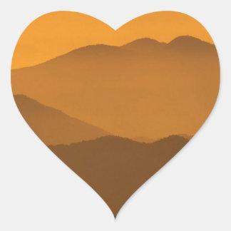 Mountain Clingmans Dome Carolina Heart Stickers