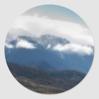 Mountain Cloud Classic Round Sticker