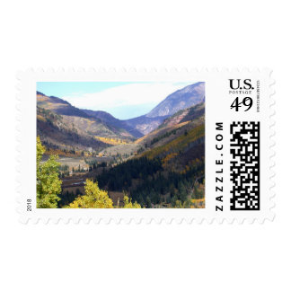 mountain collection postage stamp