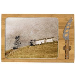 Mountain Con Cheese Board & Knife Rectangular Cheeseboard