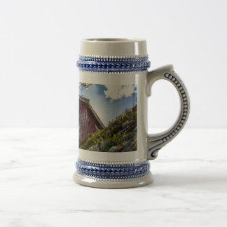 Mountain cottage beer stein