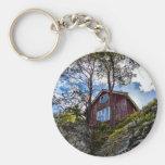 Mountain cottage keychain