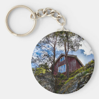 Mountain cottage keychain