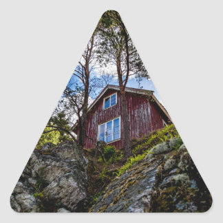 Mountain cottage triangle sticker