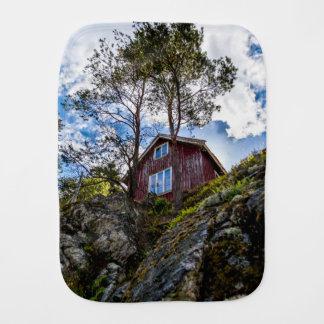 Mountain cottage burp cloth