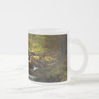 Mountain Creek 10 Oz Frosted Glass Coffee Mug
