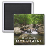 Mountain creek / river - Great Smoky Mountains 2 Inch Square Magnet