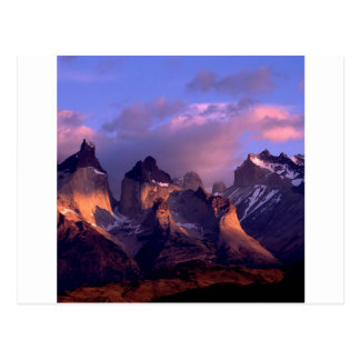 Mountain Cuernos Del Paine los Andes Chile Tarjetas Postales