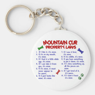MOUNTAIN CUR Property Laws 2 Basic Round Button Keychain