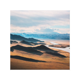 mountain dusk canvas print