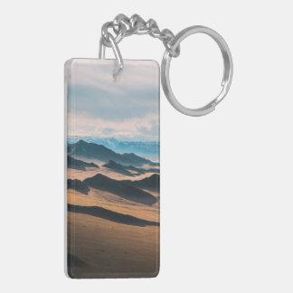 mountain dusk Double-Sided rectangular acrylic keychain