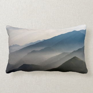 Mountain Echoes / Misty Layers of Mountains Lumbar Pillow