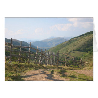 Mountain fence card