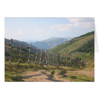 Mountain fence card