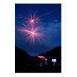 Mountain Fireworks Celebration Postcard