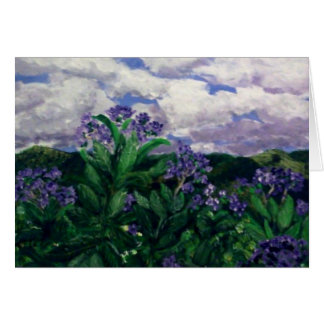 Mountain floral greeting card