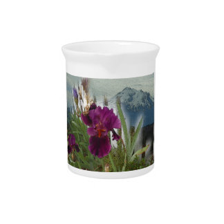 Mountain Flowers Beverage Pitcher