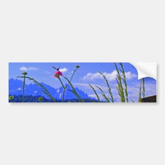 Mountain Flowers Bumper Sticker