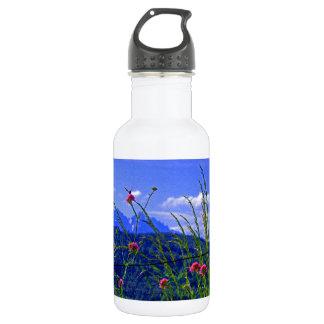 Mountain Flowers Stainless Steel Water Bottle