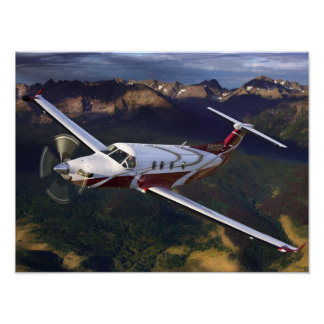 Mountain Flying PC-12 Poster