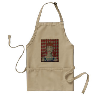mountain folk , Let your vittles shut your mouth Aprons