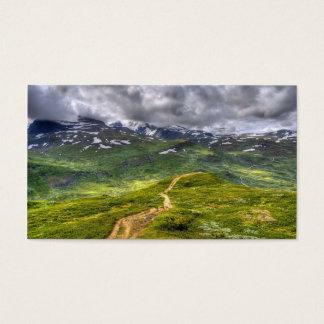 Mountain footpath business card