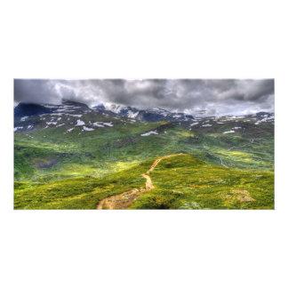 Mountain footpath card