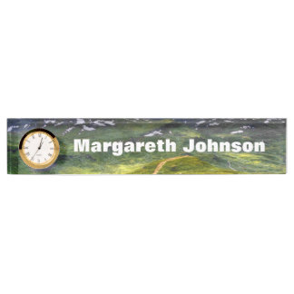 Mountain footpath nameplate