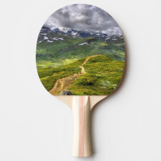 Mountain footpath ping pong paddle
