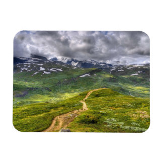 Mountain footpath rectangular photo magnet