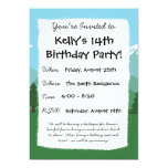 """Mountain Forest 5"""" X 7"""" Invitation Card"""