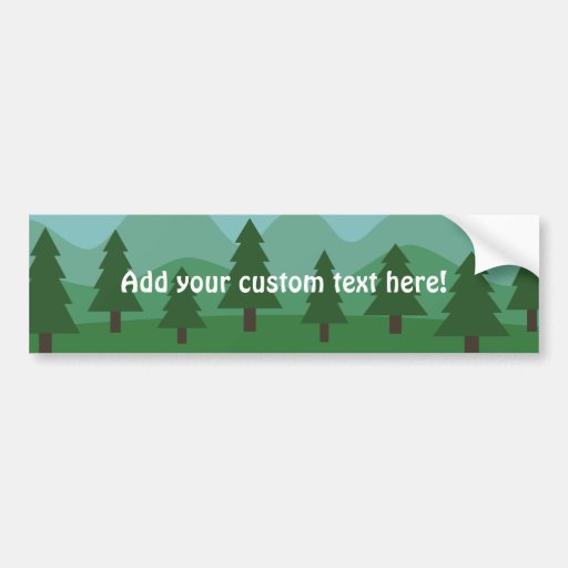 Mountain Forest Bumper Sticker
