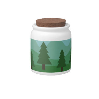 Mountain Forest Candy Jars