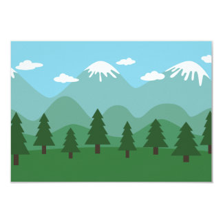Mountain Forest 3.5x5 Paper Invitation Card