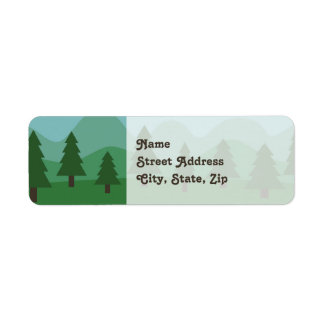 Mountain Forest Label
