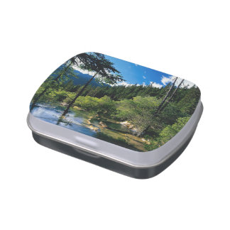 Mountain Forest Lake Candy Tin