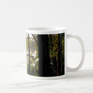 Mountain forest lake coffee mug