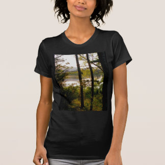 Mountain forest lake t shirt