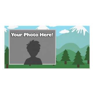 Mountain Forest Picture Card