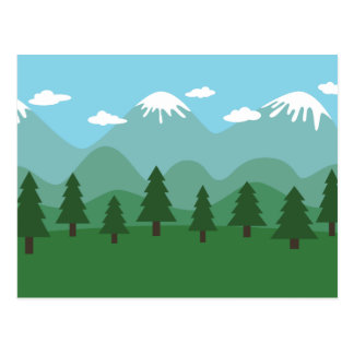 Mountain Forest Post Card